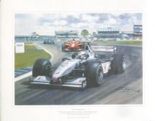 DAVID COULTHARD McLaren Mercedes 1999 BRITISH GP by MICHAEL TURNER